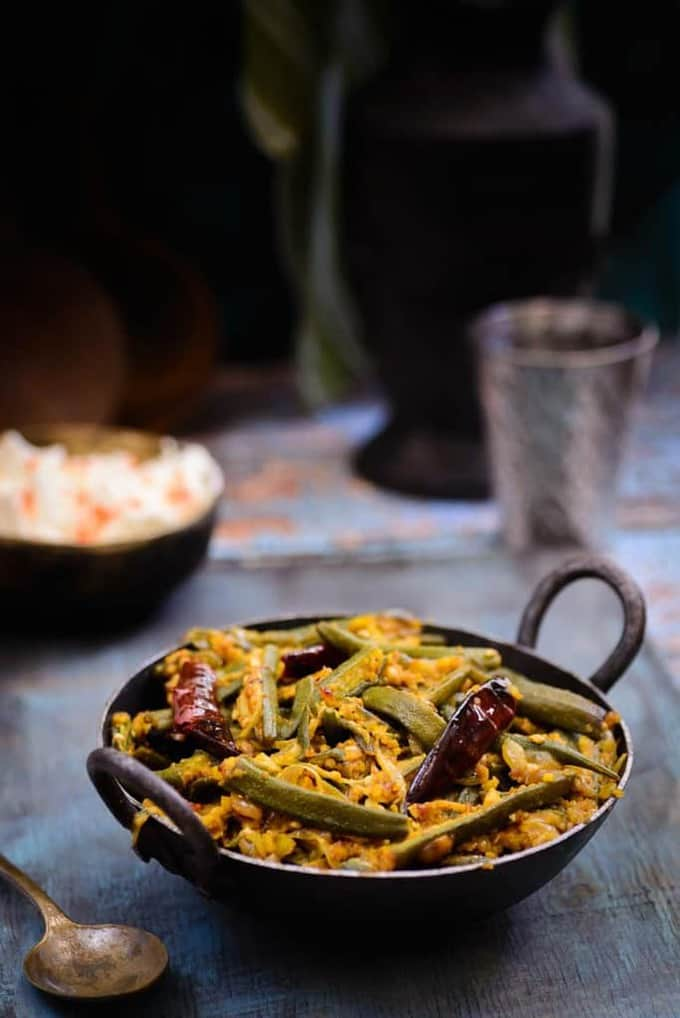 Moongphali Bhindi / Okra with Peanuts
