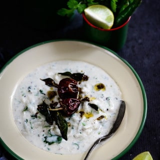 Mooli ka Raita is a crunchy, yet sweetish spicy yoghurt preparation tempered with aromatic spices. Very quick and easy to prepare, this is also a unique way to use the vegetable, which otherwise isn't liked by many.