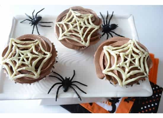 Perfect vanilla cupcakes with Strawberry jam filling and chocolate butter cream frosting…A treat for halloween