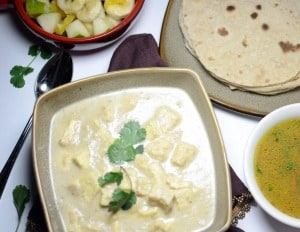 Paneer In White Gravy