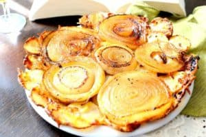 Upside Down Onion and Potato Tart