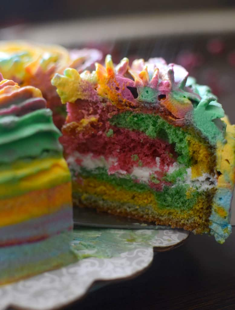 A cut slice from holi cake