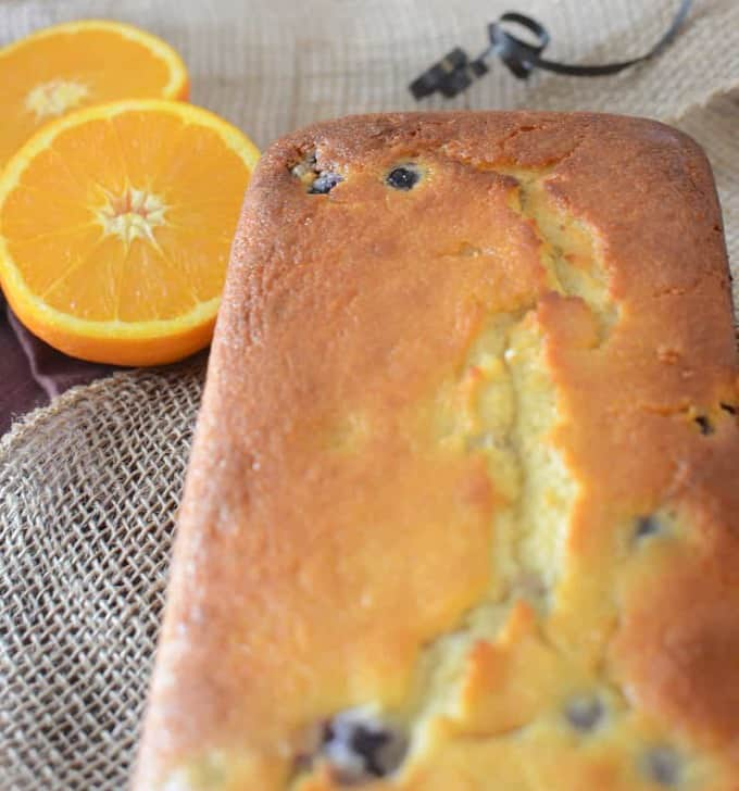Orange-blueberry loaf cake