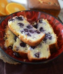 Orange Blueberry Loaf Cake