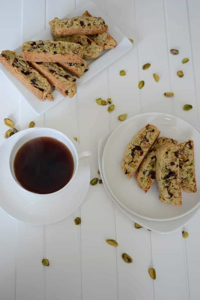 Pistachios and Cranberry Biscotti