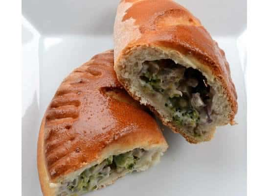 Vegetable Calzones with filling