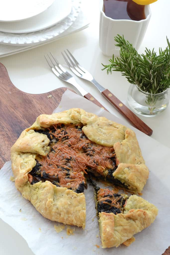 #Spinach and #Mushroom Galette