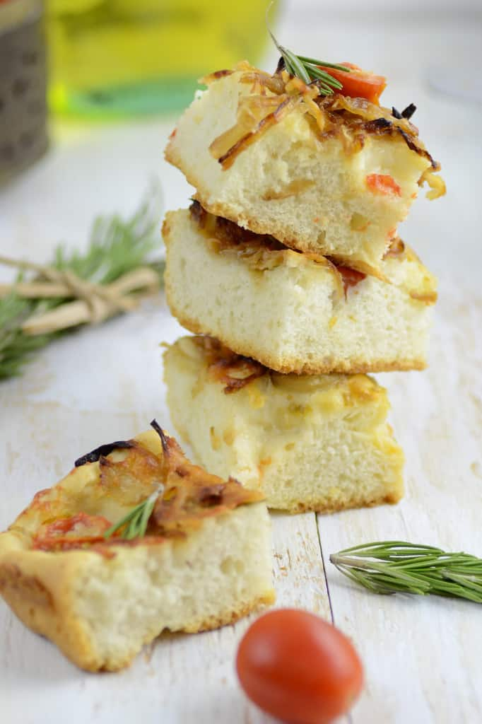 Caramelized Onion and Rosemary Foccacia