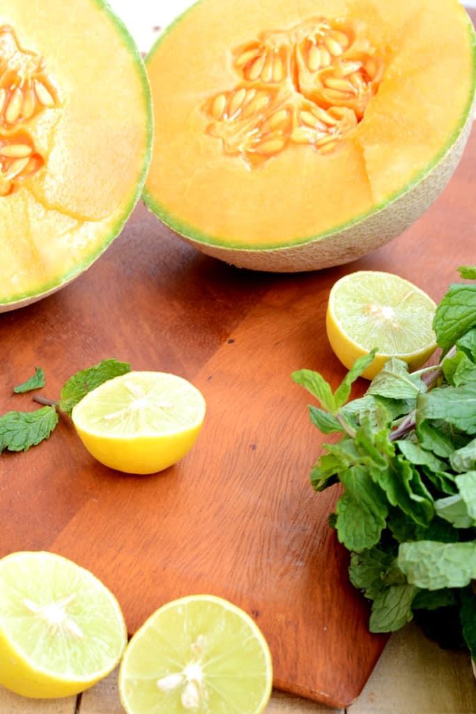 Cantaloupe lemon and Mint Granita - Whisk Affair