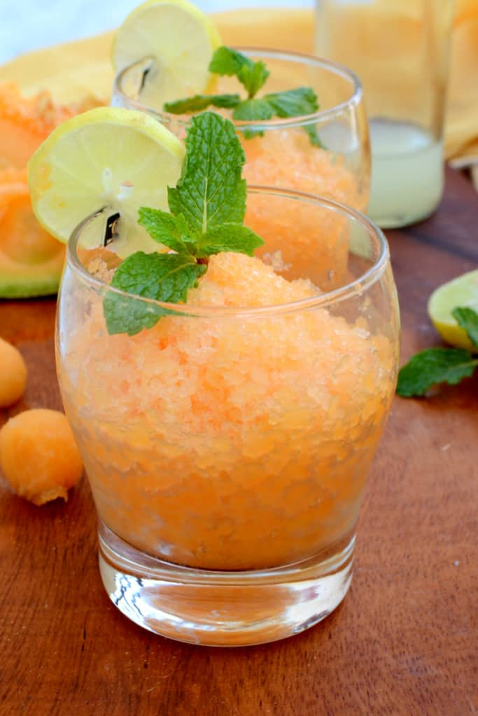 Italian dessert, Cantaloupe Lemon and Mint Granita. If this granita ...