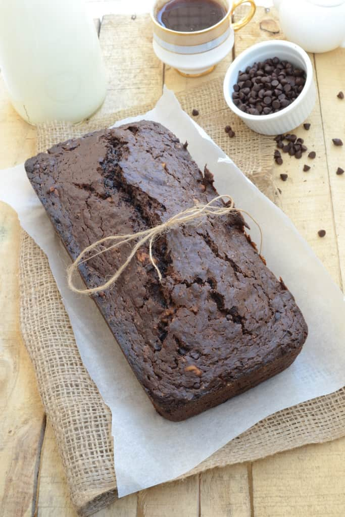 Double Chocolate Banana Bread is a moist, soft bread that smells heavenly. It makes best use of over ripened bananas and is nutritious as well.