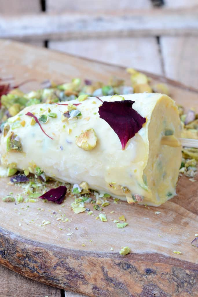 Kesar Pista Kulfi is made with pure saffron and freshly ground pistachios, perfect for dessert during the summers and is healthy too.