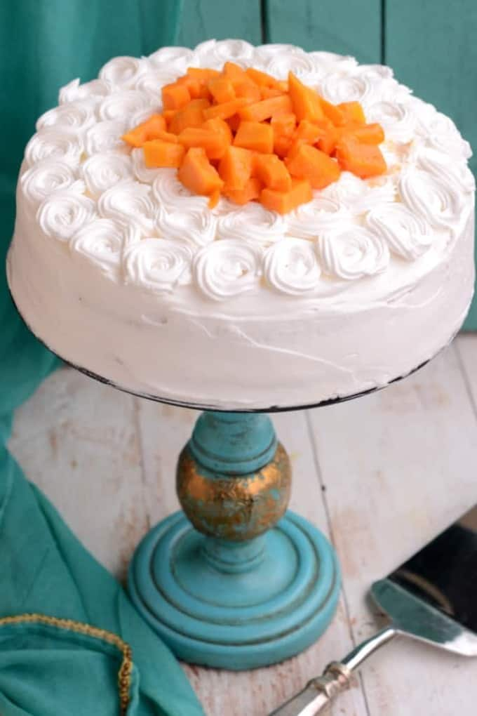 Mango Cream Gateau
