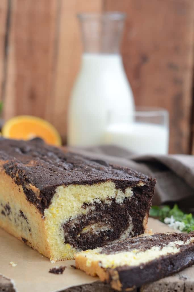 Chocolate Orange Marble Cake Youtube