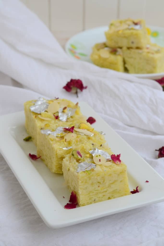 Lauki ki Barfi is a delicious Indian sweet made using bottle gourd. It can be had for fasting and can be made for festivals. Here is a tried and tested recipe .