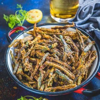 Kurkuri Bhindi Recipe (Crispy Indian Spiced Okra Fry)