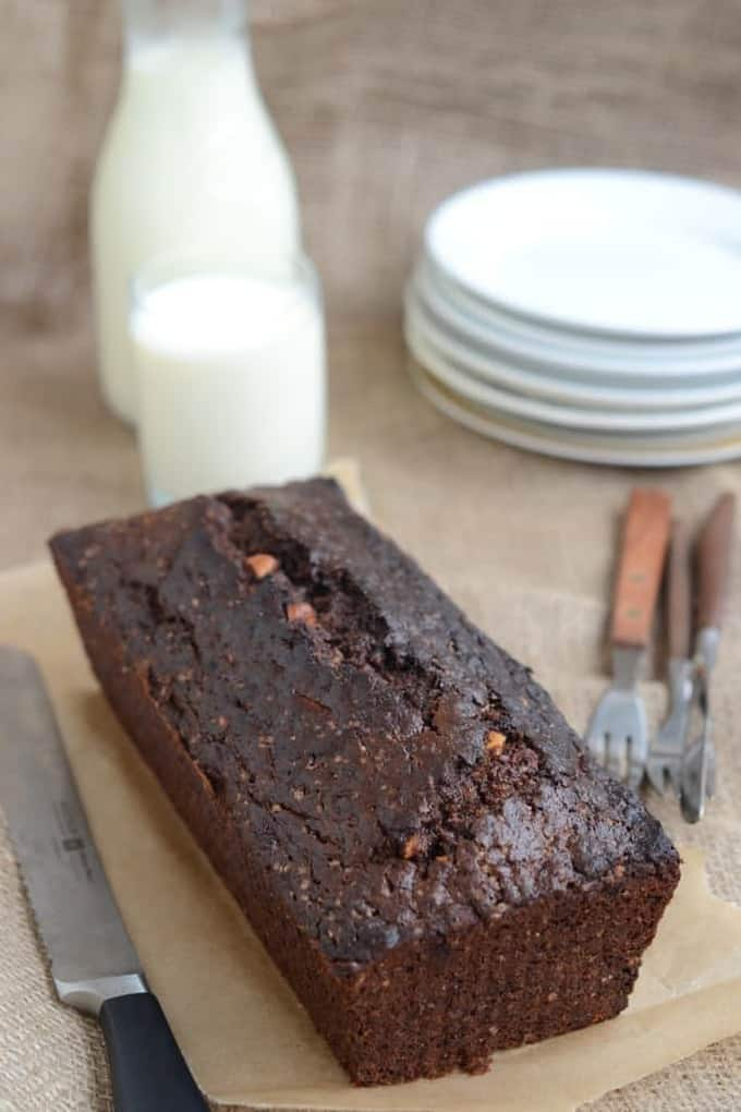 Chocolate Banana Bread with Hazelnuts
