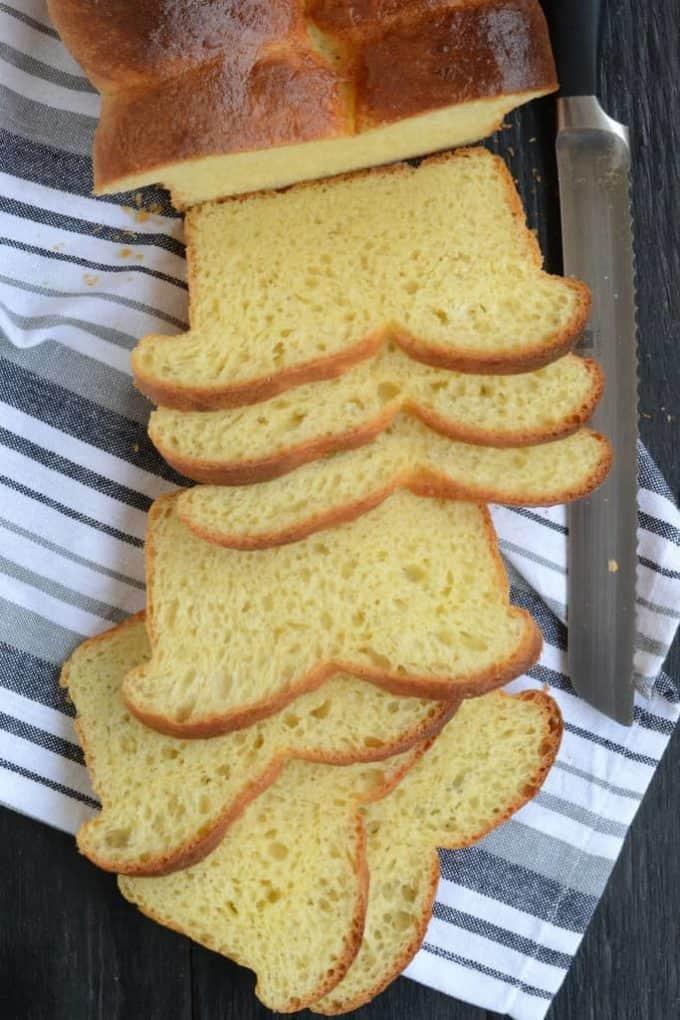 top shot of Brioche Nanterre bread