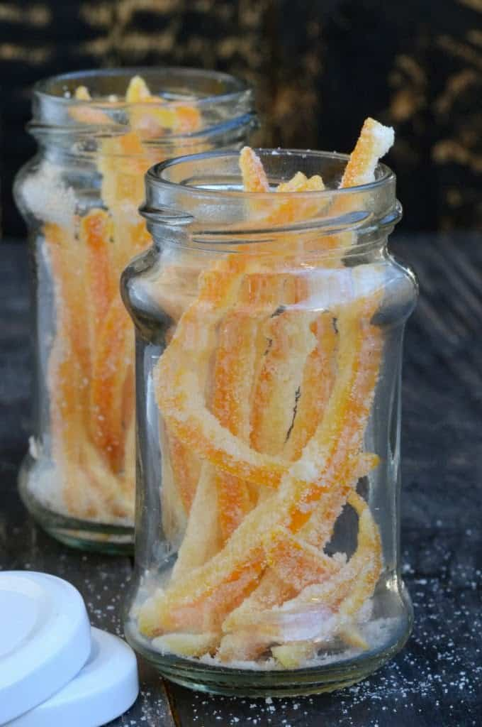 Make your own candied orange peel at home. Much better in taste and can be used in a variety of desserts and bakes. Here is a simple recipe.