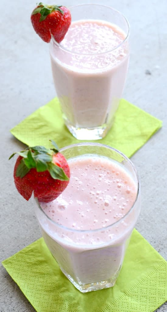 Banana Strawberry Milkshake