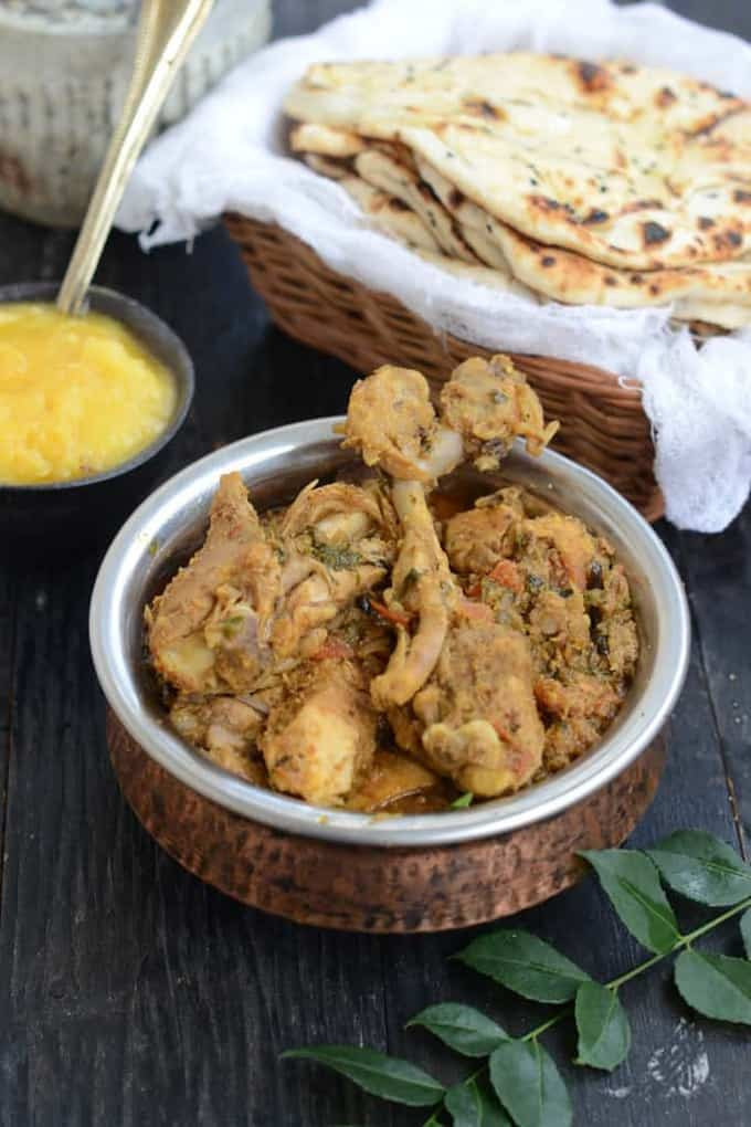 Chicken Chettinad is a hot, spicy and dry chicken based dish. Coated with freshly ground masala, it is a famous dish of Chettinad region of Tamil Nadu.