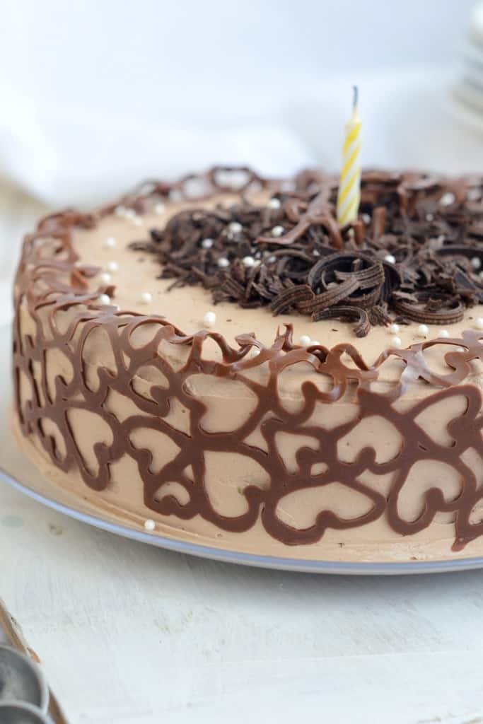 Stupendous Chocolate Coffee Cake With Chocolate Swiss Meringue Buttercream Personalised Birthday Cards Vishlily Jamesorg