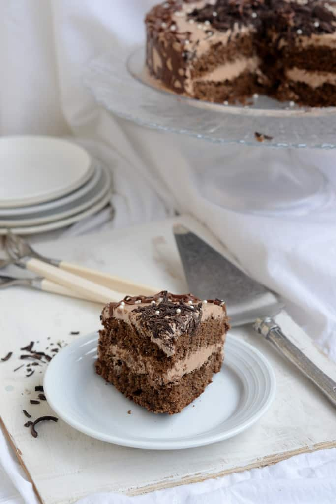 If you love coffee and if you love chocolate, this Chocolate Coffee Cake with Chocolate Swiss Meringue Buttercream is a sure shot hit. It tastes superb!