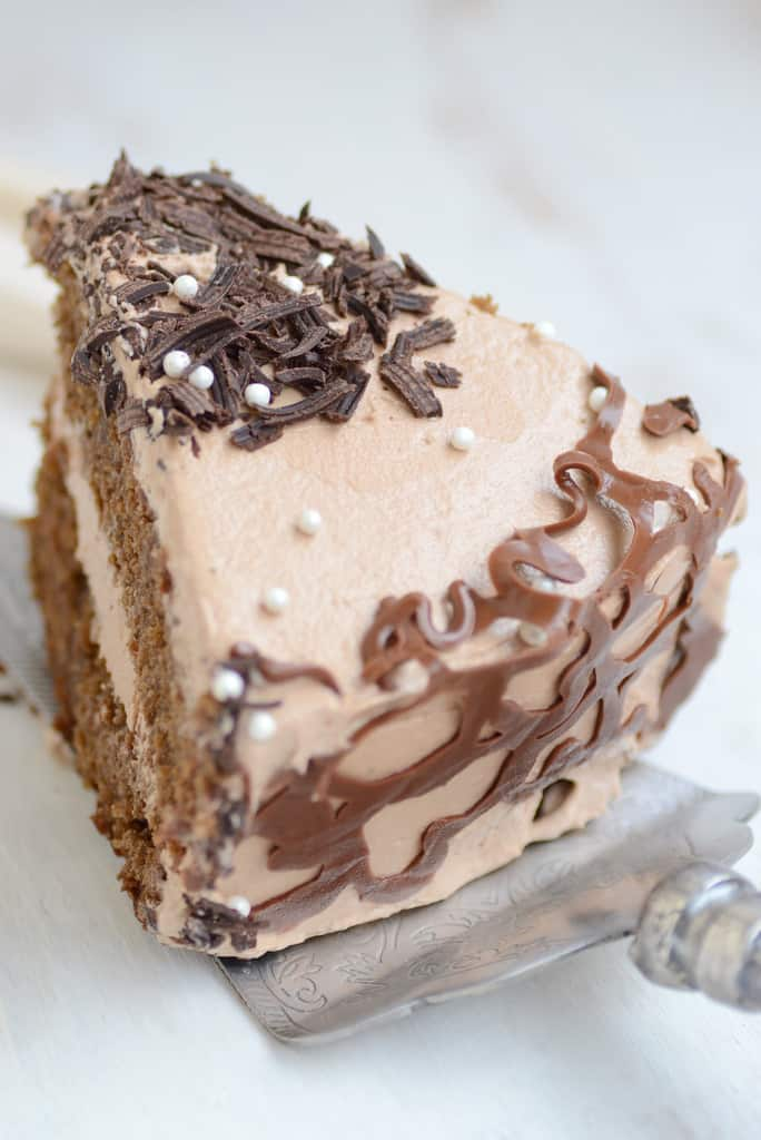 If you love coffee and if you love chocolate, thisChocolate Coffee Cake with Chocolate Swiss Meringue Buttercream is a sure shot hit. It tastes superb!