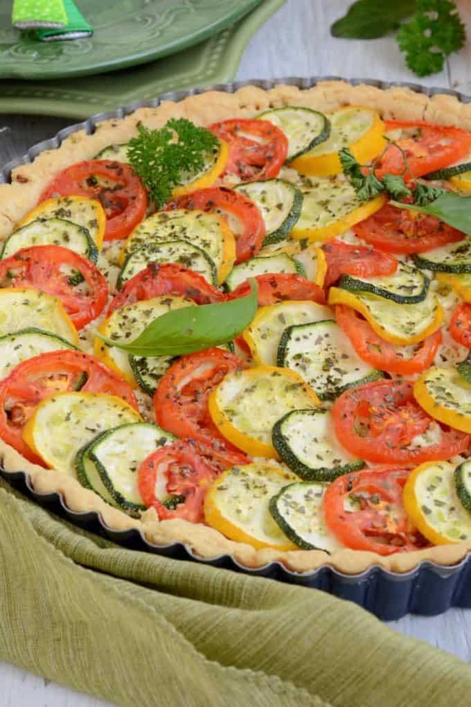 Tomato and Zucchini Tart