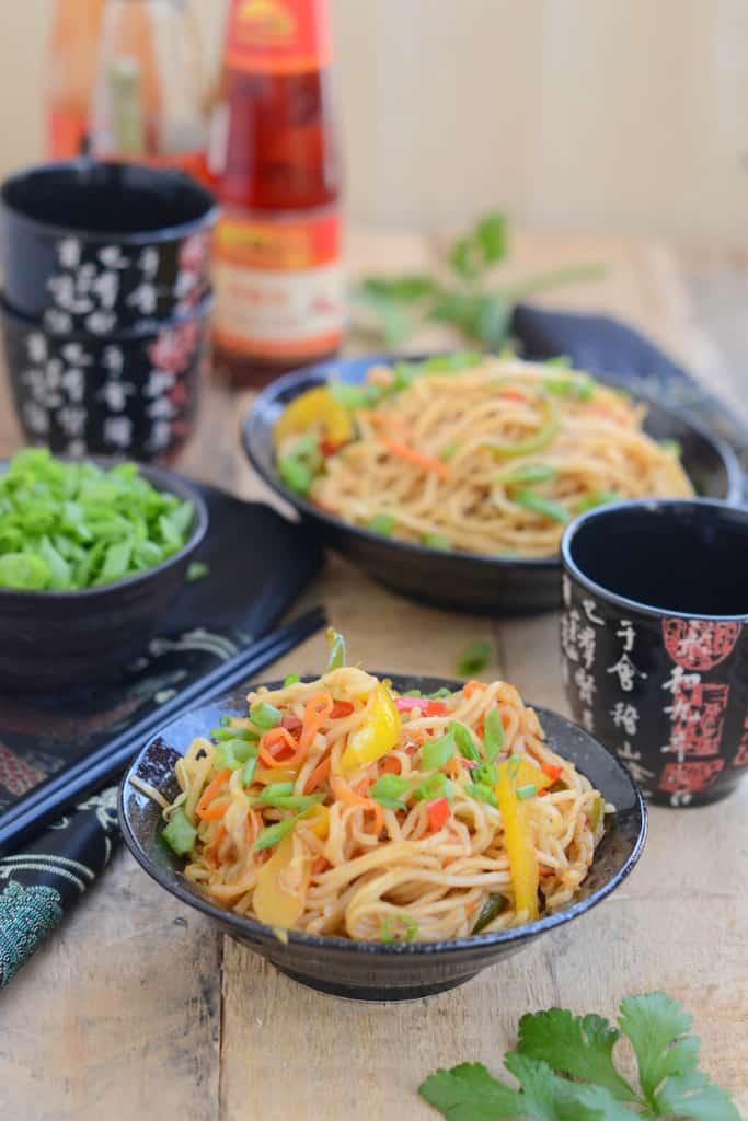 Chinese Vegetable Hakka Noodles
