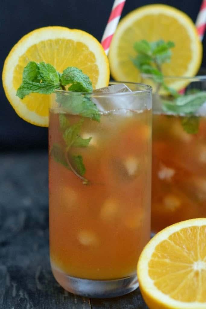 Orange Mint Iced Tea