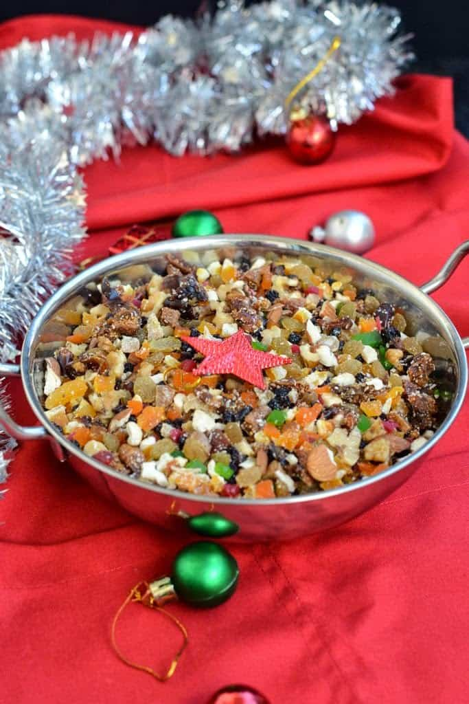 Soaking fruits for Christmas cake is best done 6-7 weeks prior to making the cake. Learn how to soak fruits for Christmas Cake