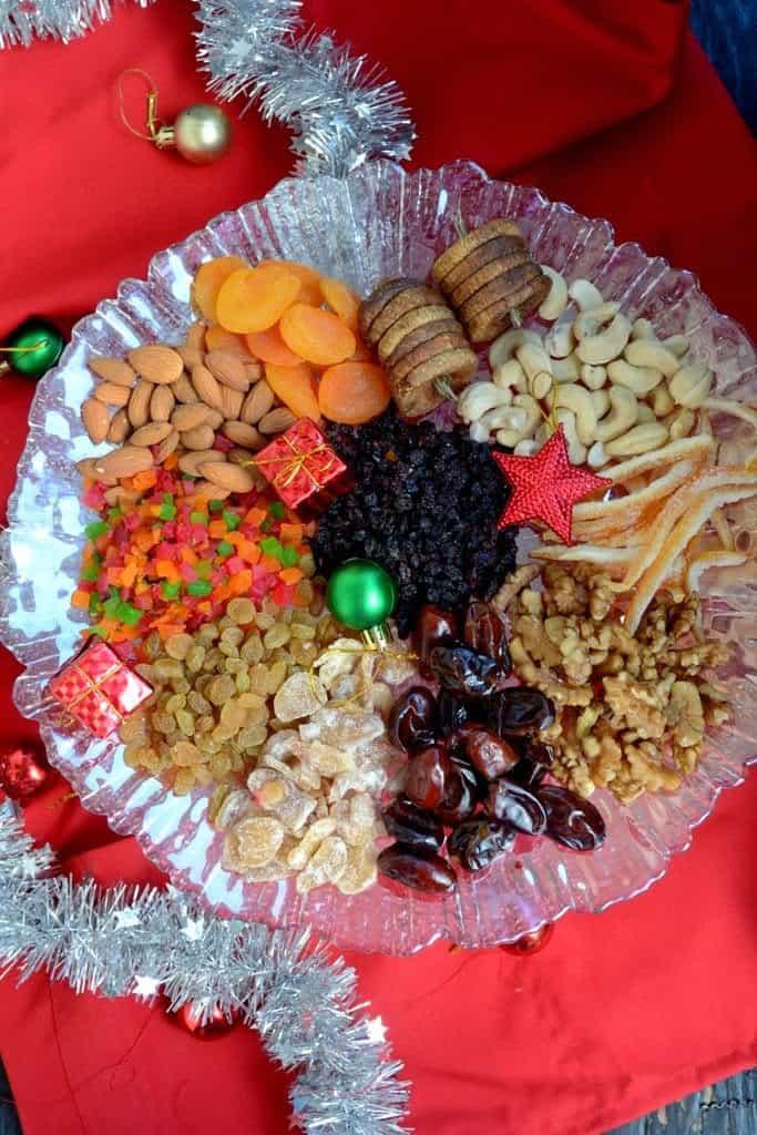 Fruit soak for Christmas Cake
