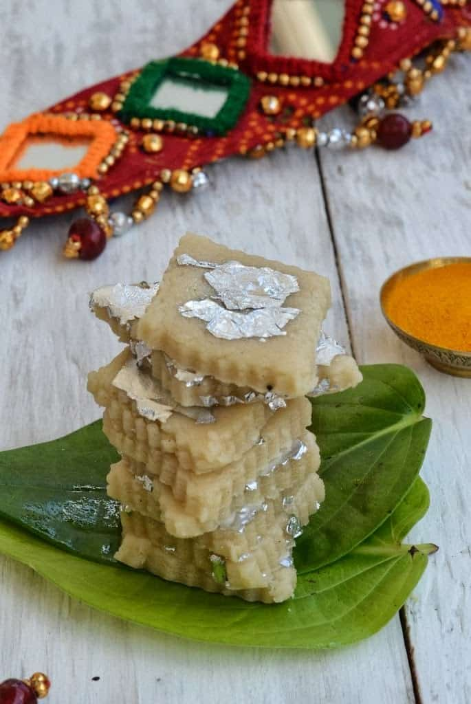 Kaju Ki Barfi or Cashew Fudge is a much sought after recipe made with cashew and sugar, and is loved by those with a sweet tooth.