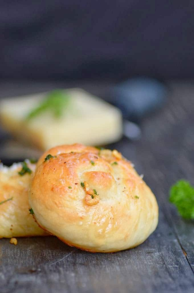 Parmesan and Garlic knots are super delicious. The butter and garlic poured on top takes these to a different level and makes them irresistible.