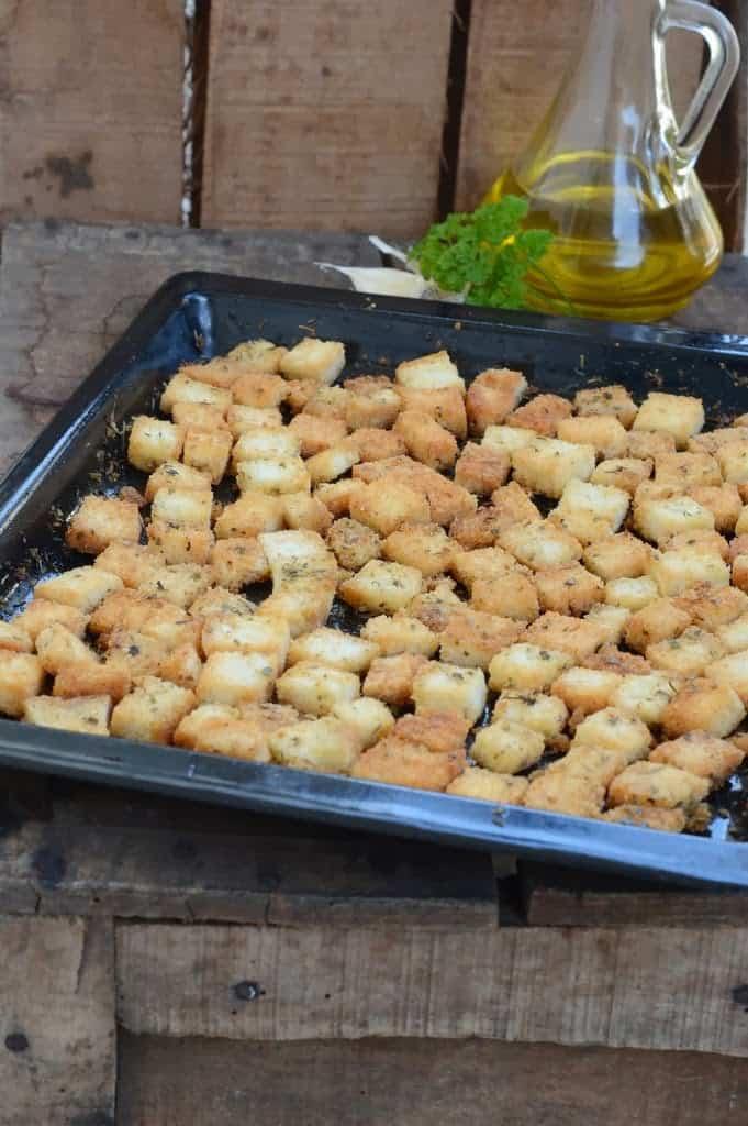 Parmesan Garlic Croutons