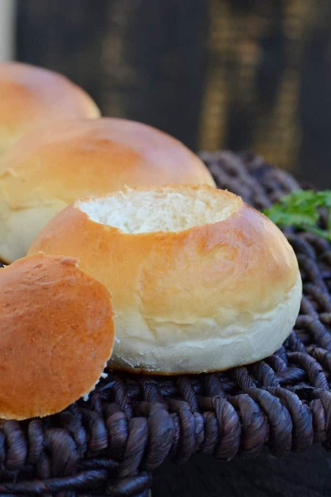 Serving your soup in a edible bread bowls takes it to a next level. Here is a simple recipe to make your own bowl at home using simple ingredients.