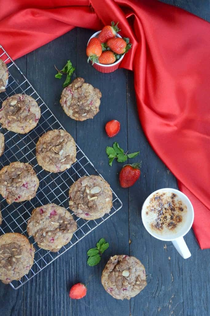 Strawberry Muffins With Almond Streusel