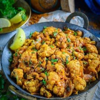 Achari Gobhi (Cauliflower with Pickling Spices)