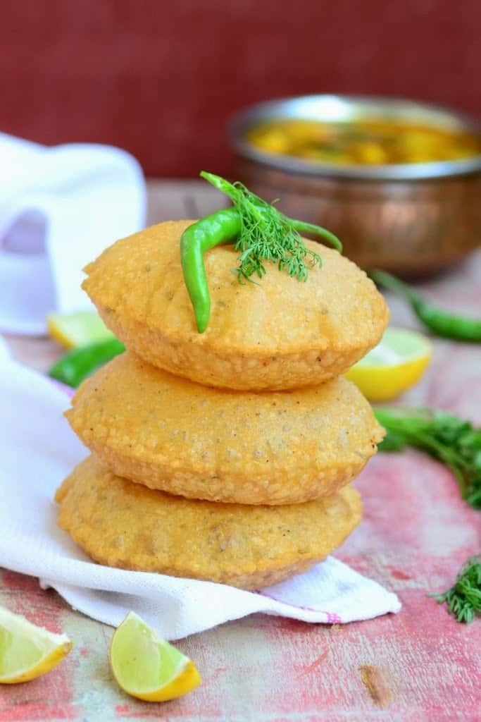 Bedmi Poori  (Lentil Stuffed Fried Bread)