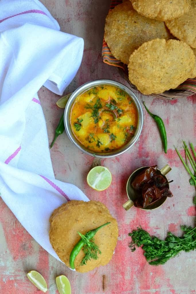 Bedmi puri is a very famous breakfast usually eaten in Delhi and some parts of Uttar Pradesh.