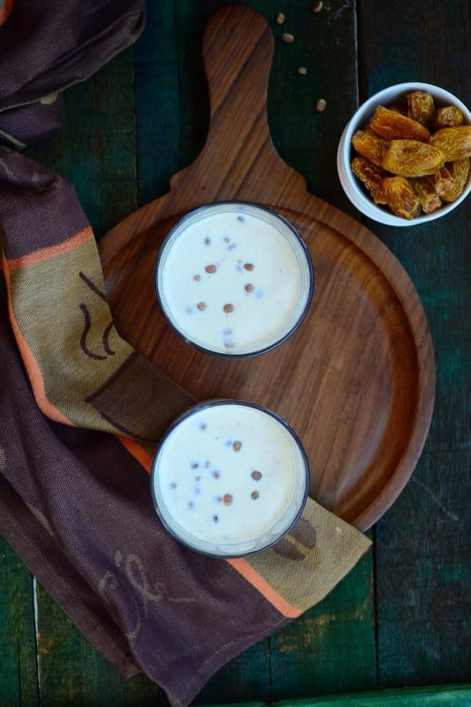 Chuhare aur Chironji ka Doodh is a drink made especially in winter and is served hot. It is very nutritious and is very easy to make.