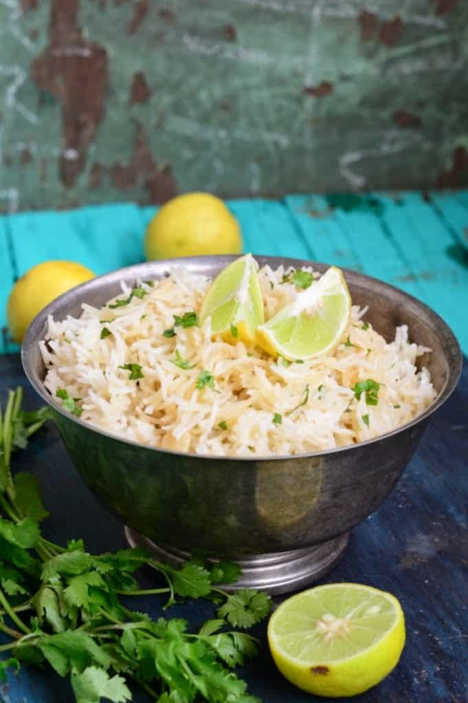 Cilantro and Lemon Rice ( Chipotle style )