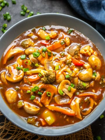 Vegetables in Hot Garlic Sauce is Chinese style main course dish where a motley of fresh veggies are cooked in a spicy gravy. Serve it with rice or noodles for a hearty meal. Here is how to make it.