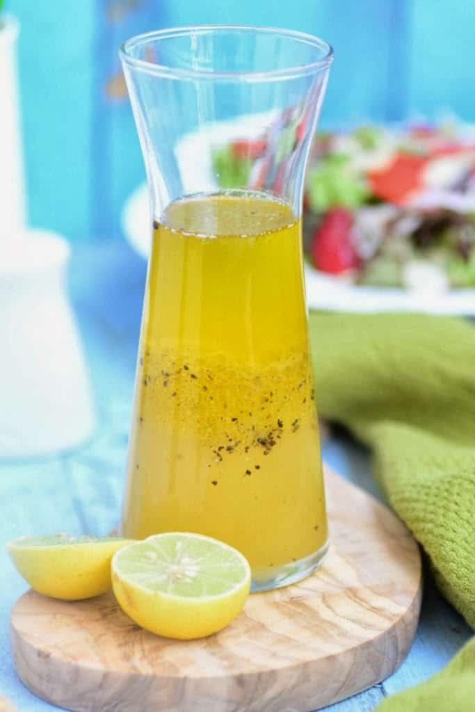 Lemon and Honey Salad Dressing with Passion Fruit