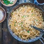 Make a wok-full of these super easy, spicy and stir-fry Peanut Sesame Noodles! They are sizzling, saucy, piping hot and loaded with sauces, sesame and peanuts.