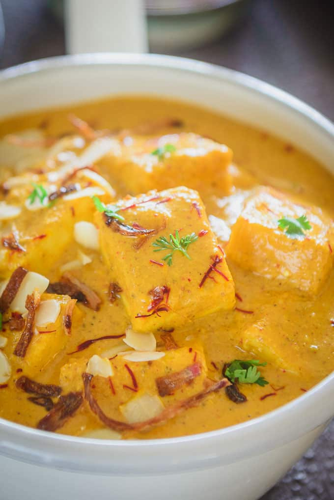close up shot of Shahi Paneer Recipe