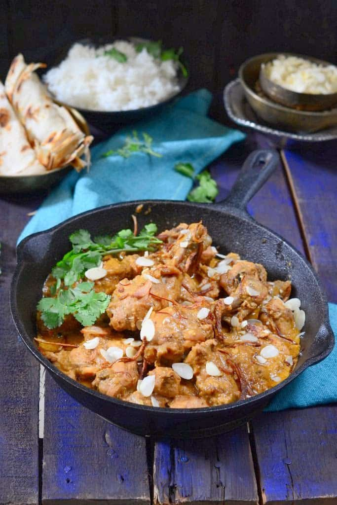 Badami Murgh Korma / Chicken in Almond Gravy