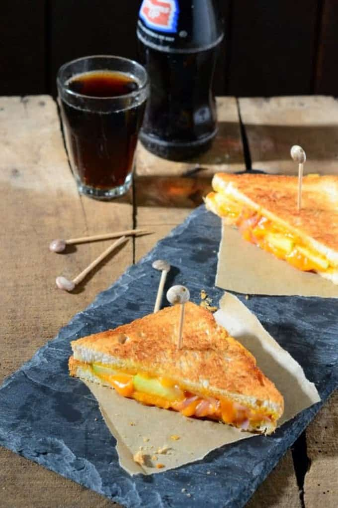 Caramelized Onion Green Apple Grilled Cheese