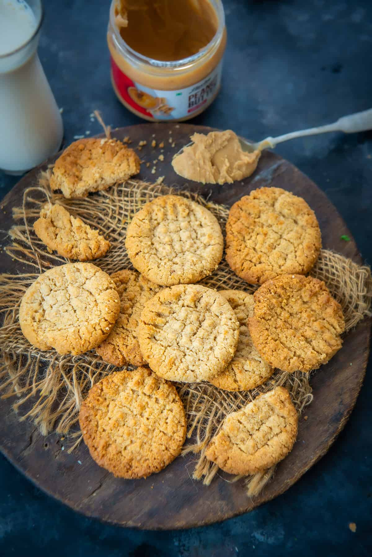 Peanut Butter Cookies served on a plate.